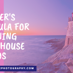 Pink ad image with lighthouse