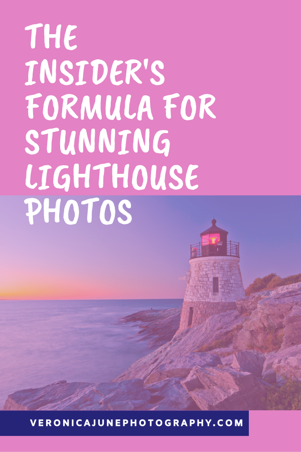 Pink image with lighthouse