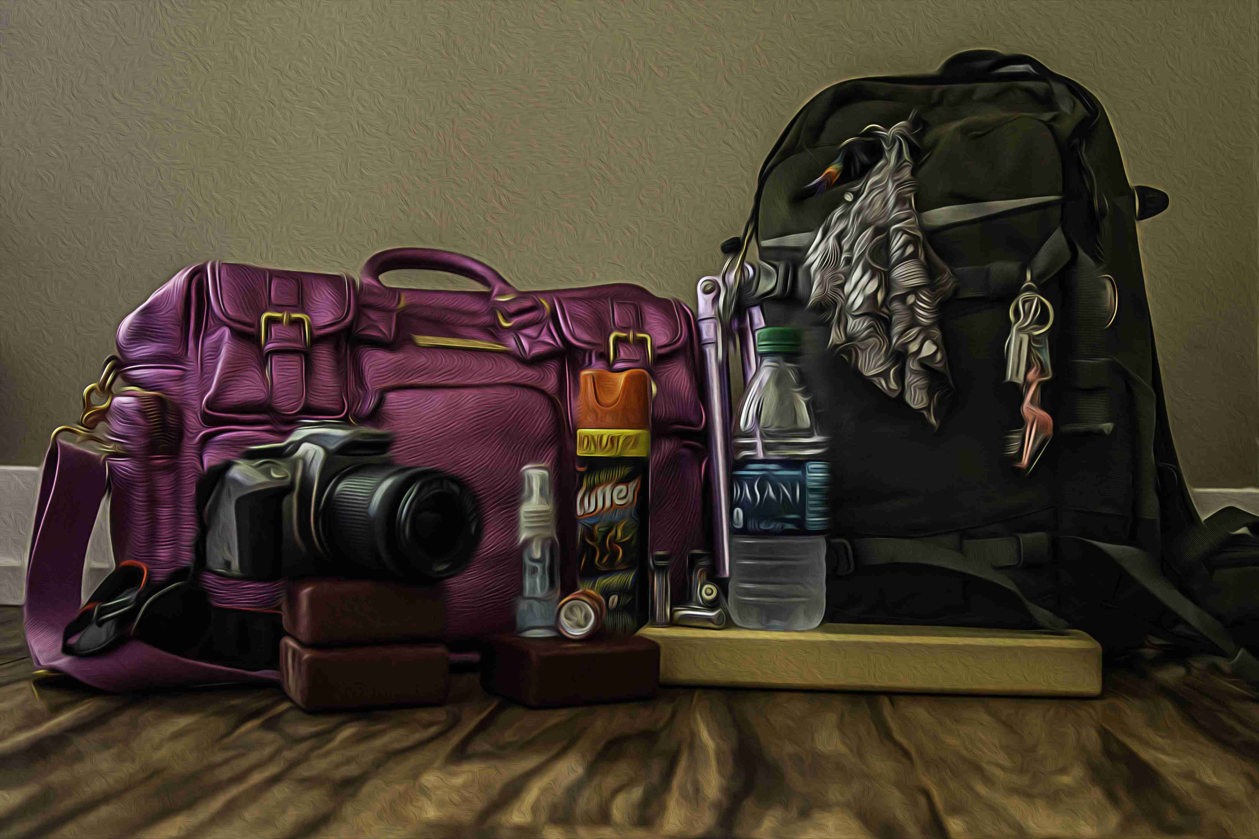 Pic of Camera Bags with stuff