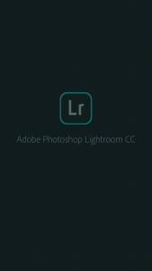 Adobe Lightroom Title Page Screenshot