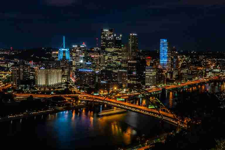 Photo of the Pittsburgh Skyline at Nighttime