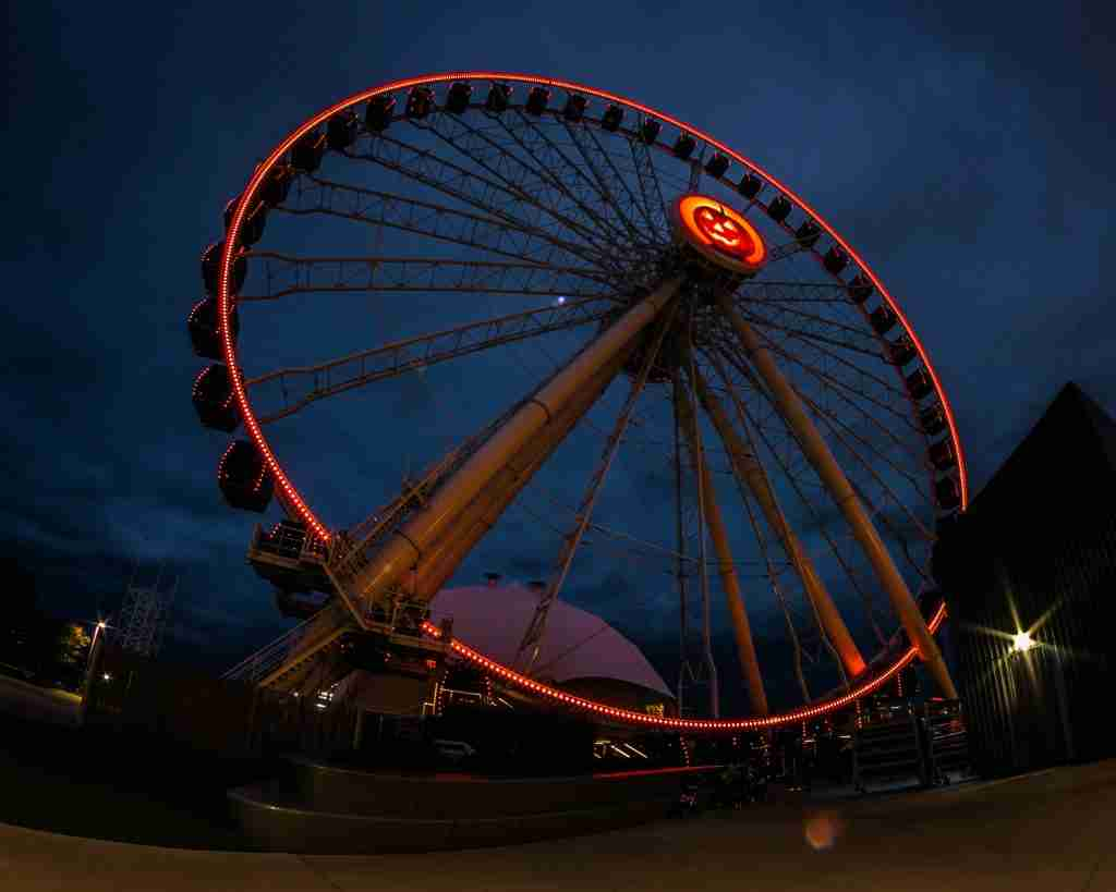Chicago's Navy Pier at Nighttime