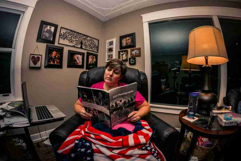 Photo of author in her favorite chair.