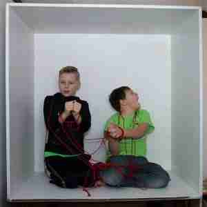 Portrait-Photographer-Holland-Michigan-boys-in-box-wrapped-in-cord