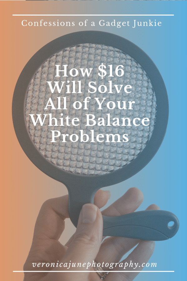 Pin image for white balance disc