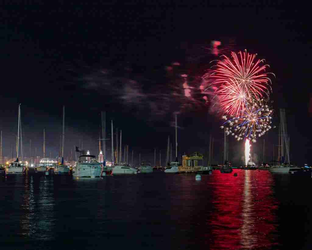 Fireworks over the Navy Pier in Chicago