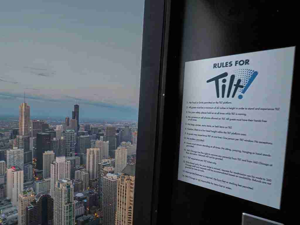 Getting ready to ride the Tilt Ride in Chicago - the Rules