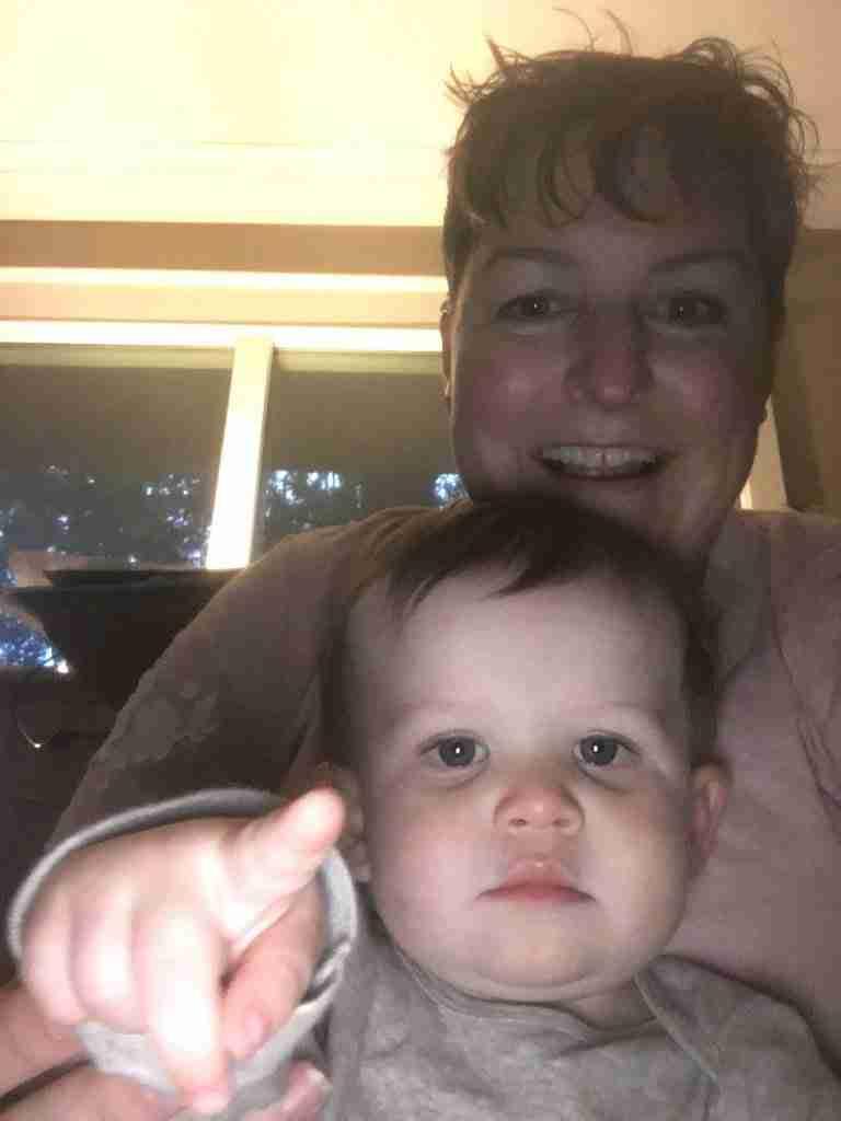 Wayde and Grandma selfie