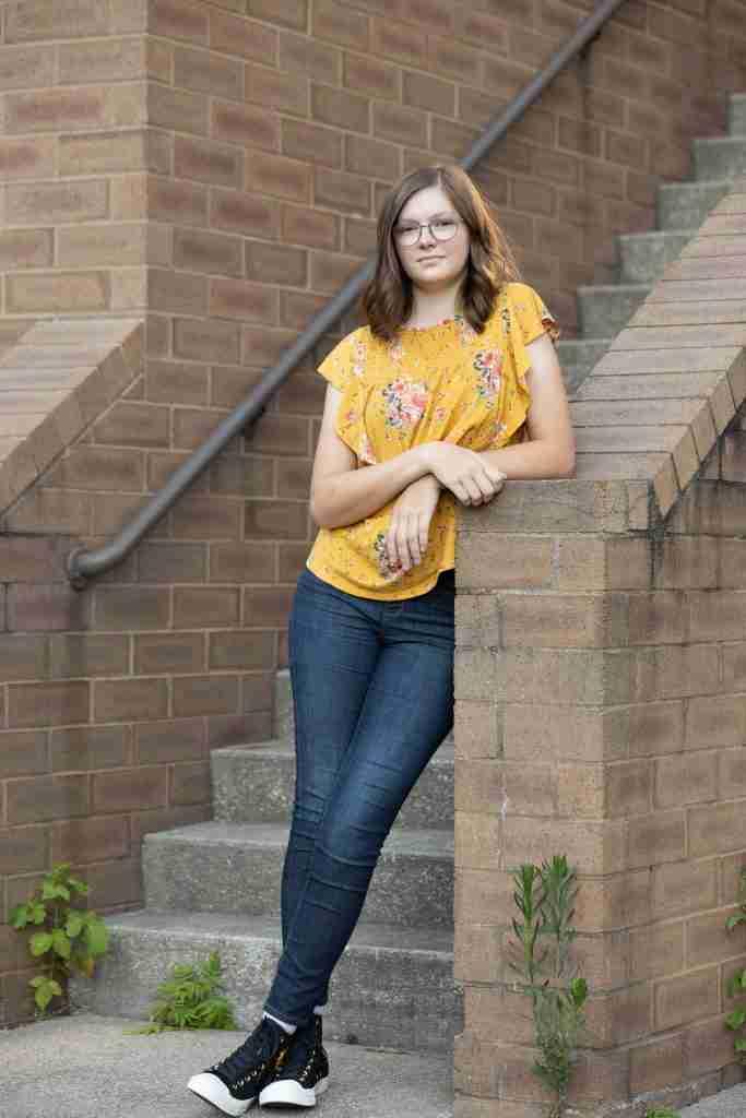 Hanna Senior Portrait Stairs 3