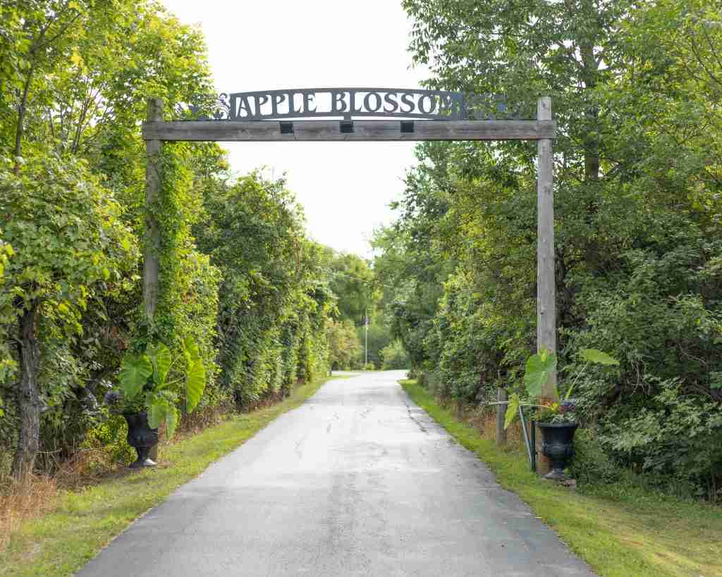 Entering Apple Blossom Farm Venue