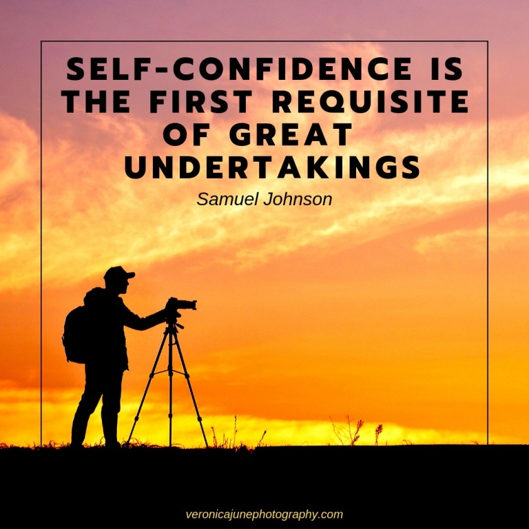 Inspirational Photography Quote about Self-Confidence