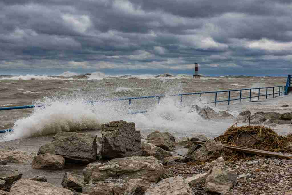Angry Waves at Holland State Park
