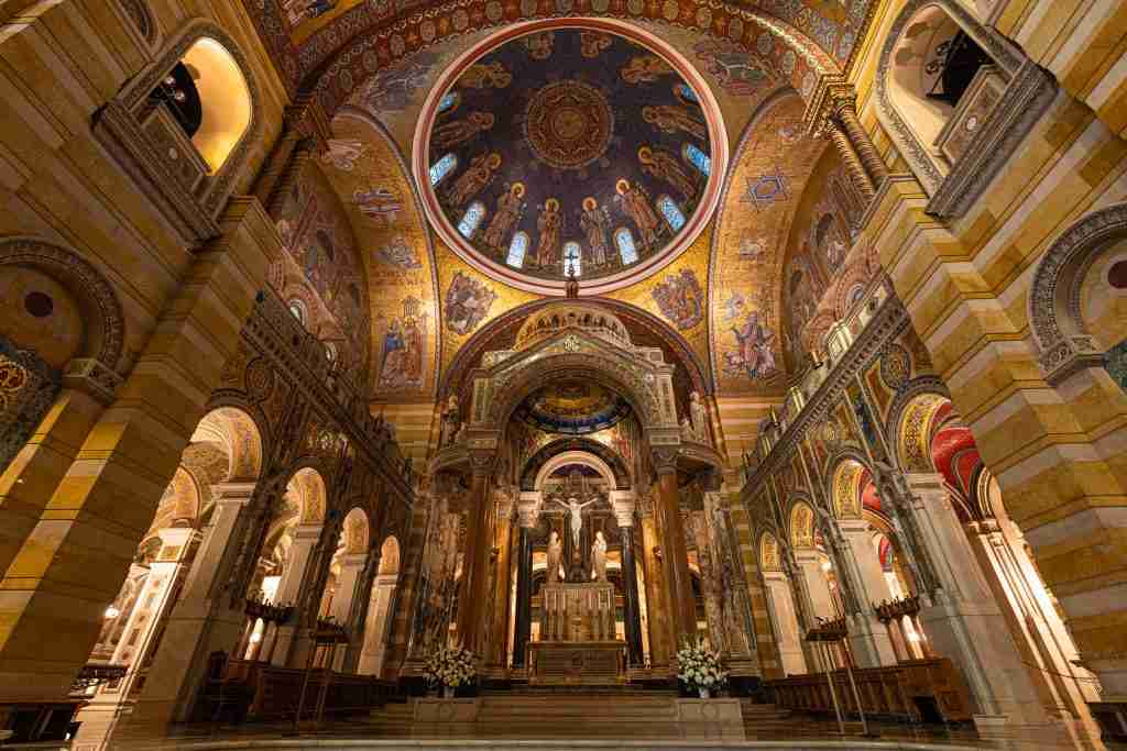 Wide view of Cathedral Basilica