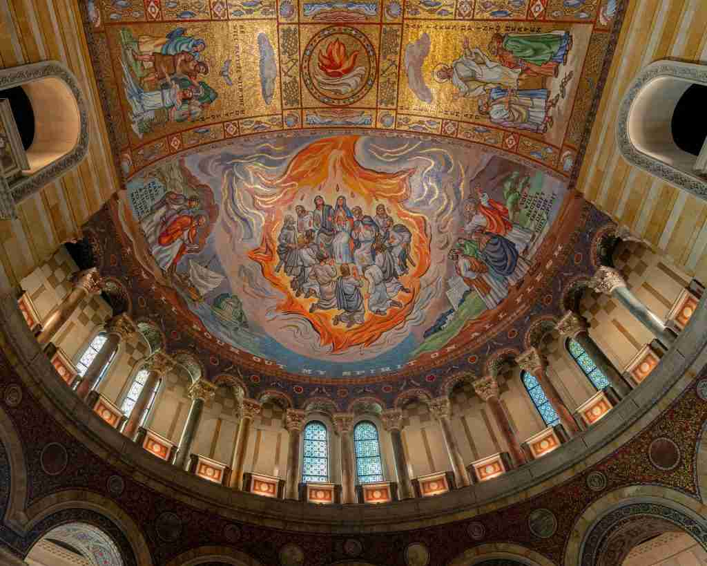 Image on the ceiling of the Cathedral Basilica