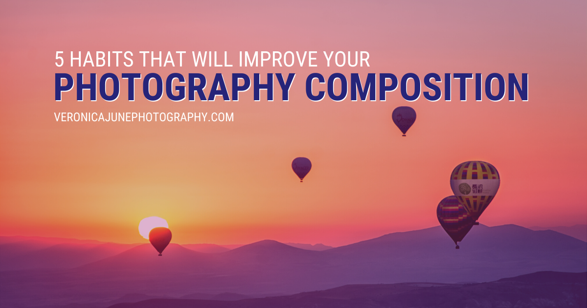Hot Air Balloons demonstrating Good Photography Composition - AD image