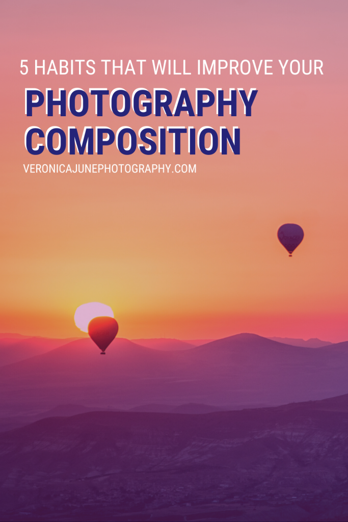 Hot Air Balloons demonstrating Good Photography Composition - PIN image