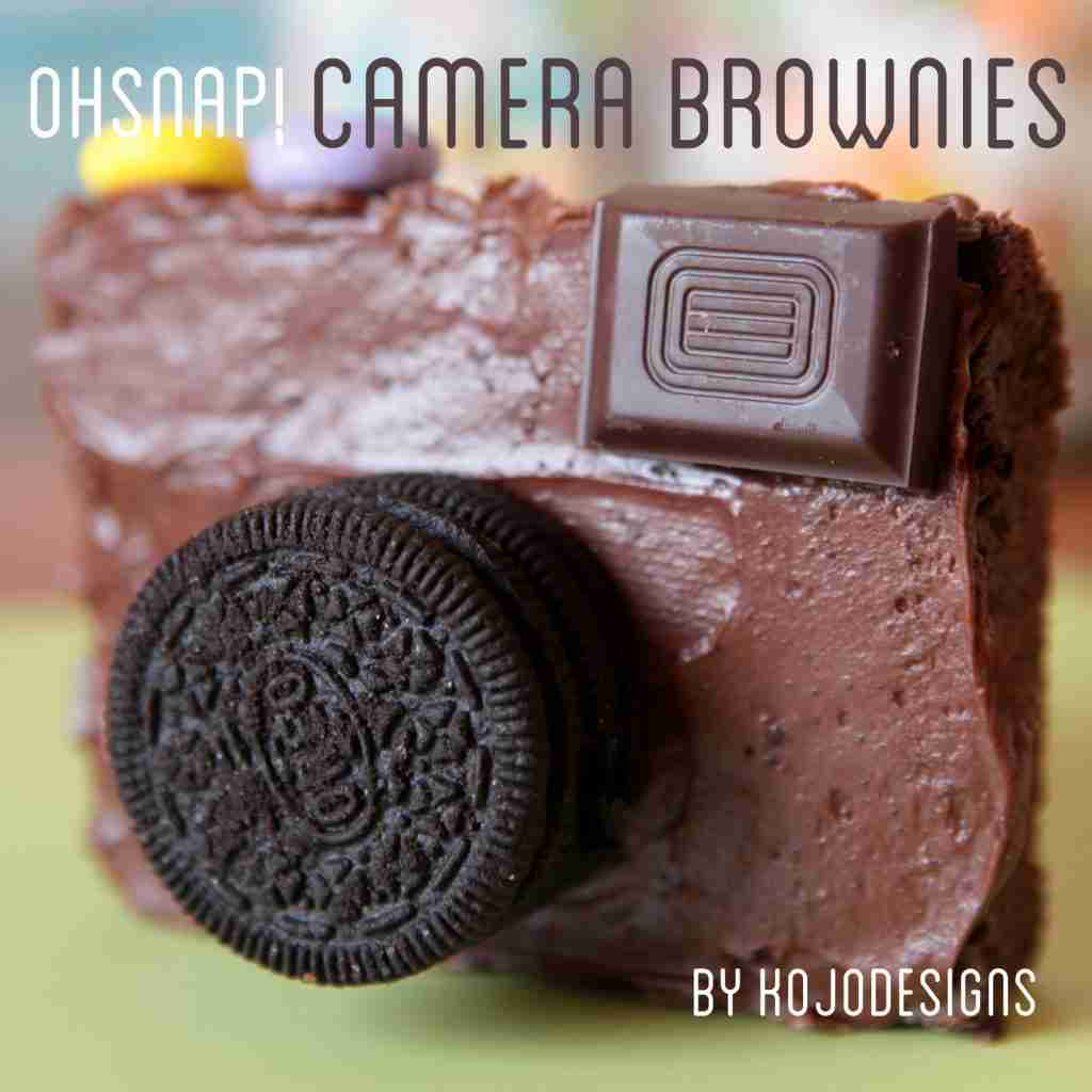 Camera themed brownies for a photographer's day off