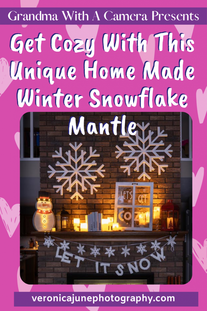 PIN Image for Cozy Homemade Snowflake Mantle