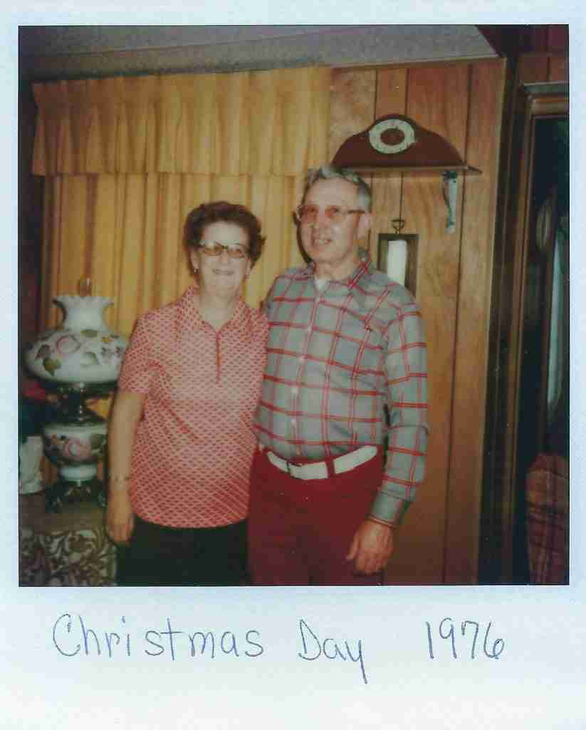 grandparents posing for a photo
