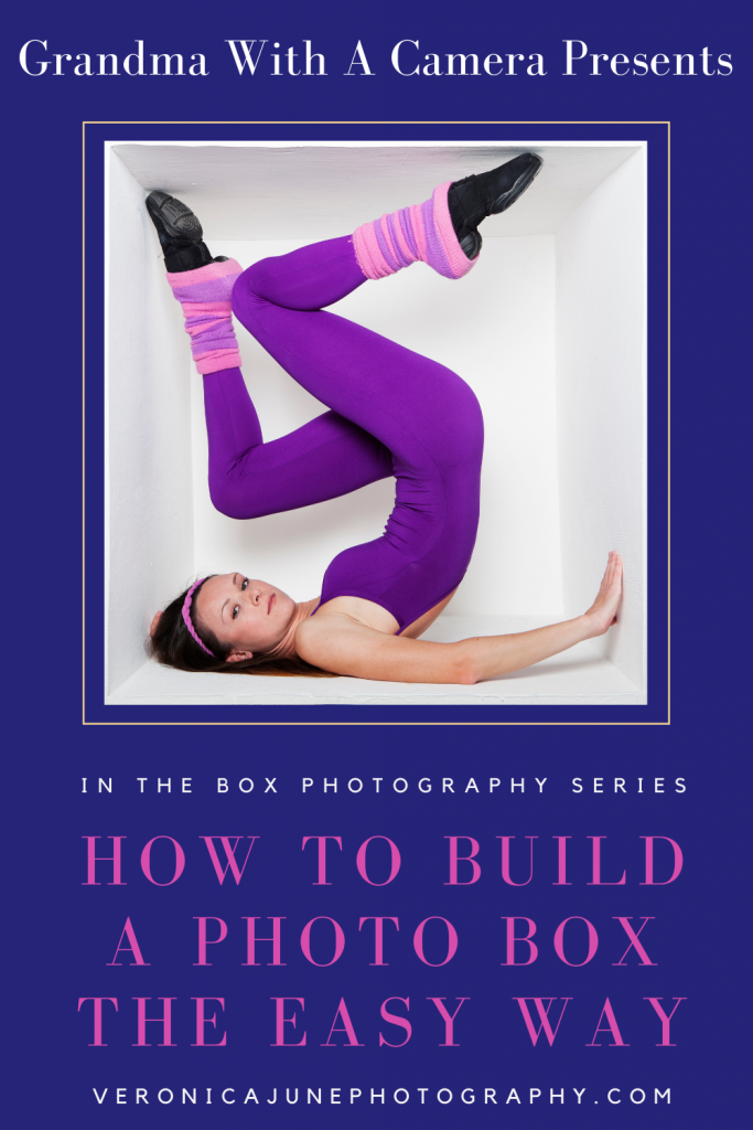 PIN image with woman inside a box for how to build a box post