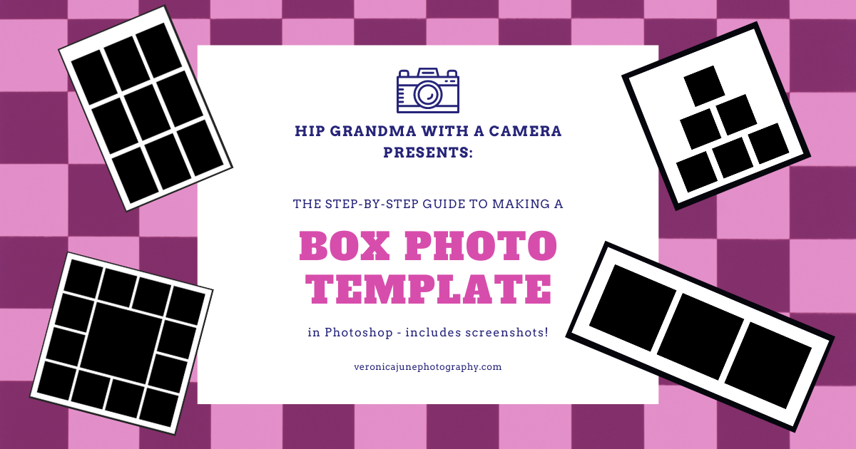 Ad image showing box photography templates