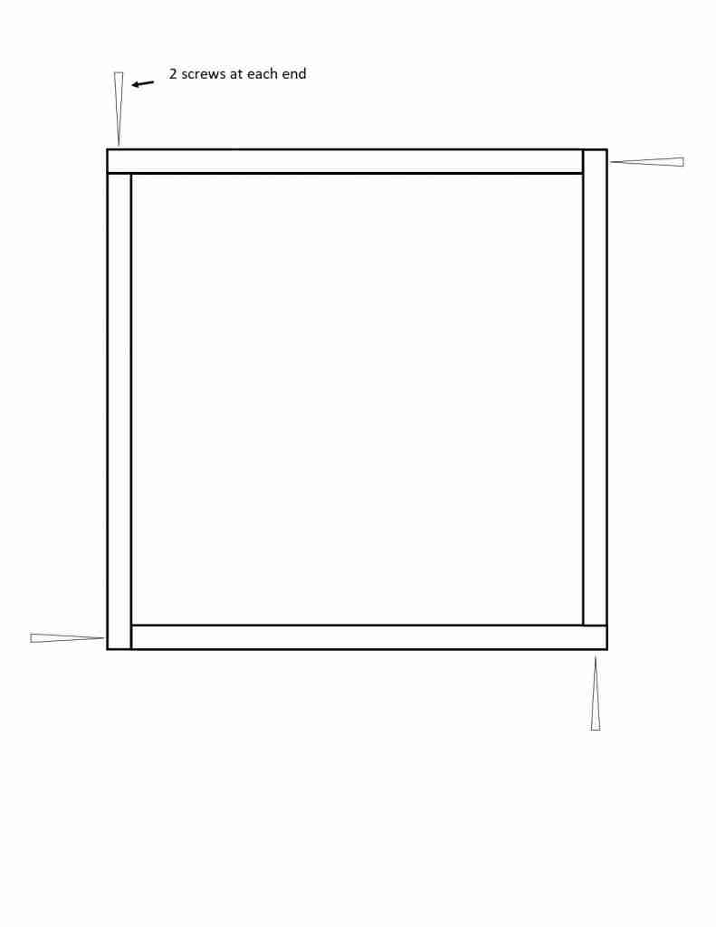 Diagram showing how to build a photo box