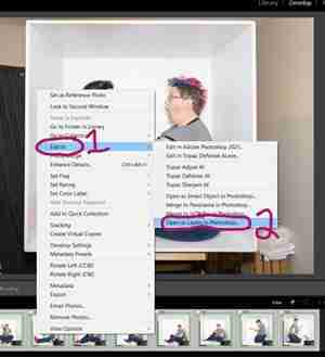 Lightroom Screenshot showing how to select all images