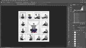 Photoshop Screenshot of rough draft of box photo composite