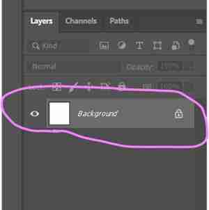 Photoshop screenshot showing how to create a second layer