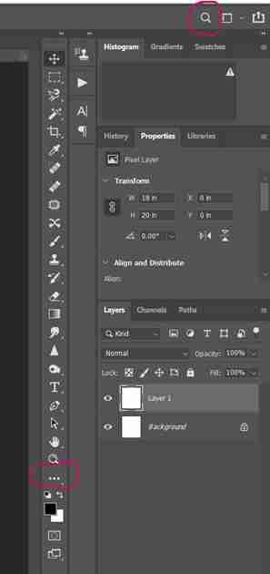Photoshop screenshot showing how to change background layer color