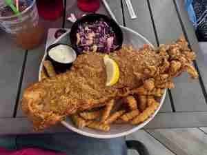 Fish and Chips at Tiki Docks - one of the best places to eat in St Pete Fl