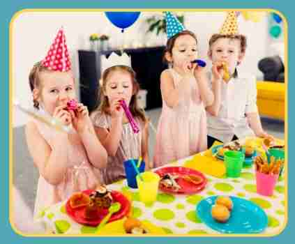 Kids having birthday fun at Holland 7 - kid's party in Holland Michigan