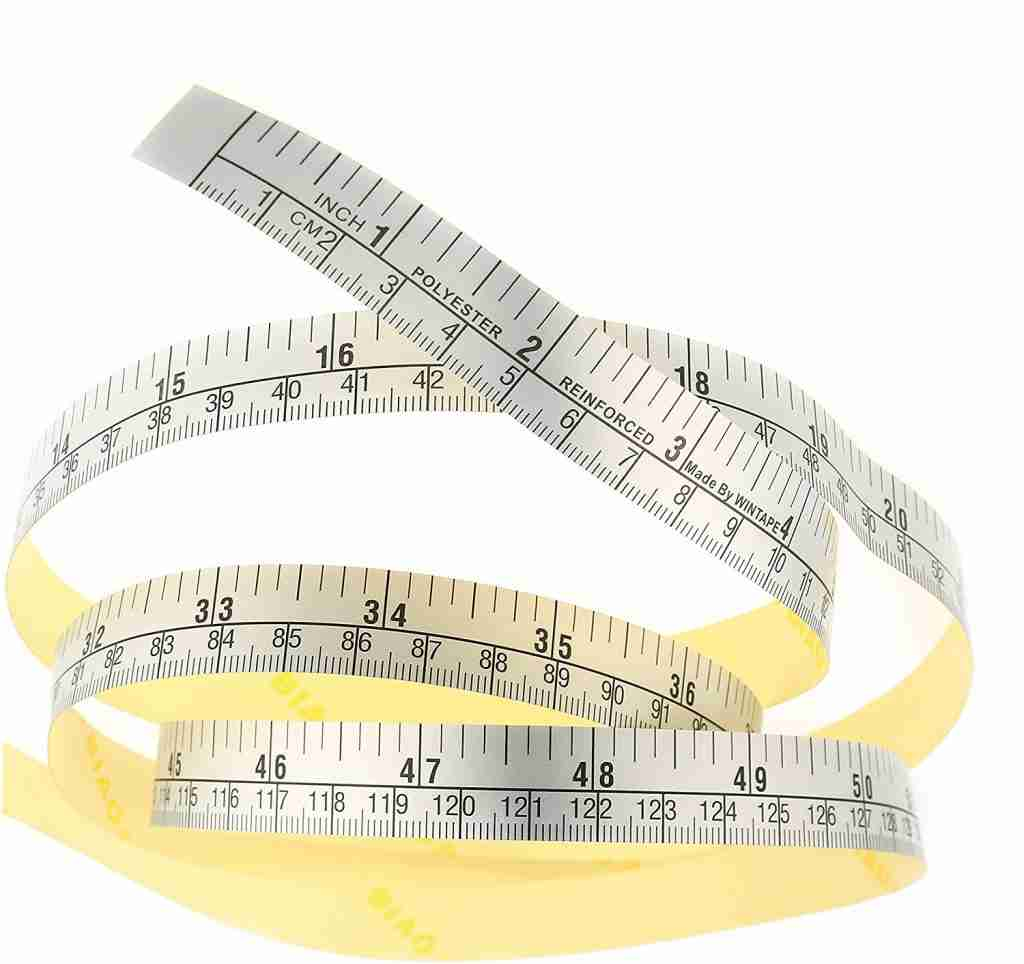 sticky tape measure used in building a photo box